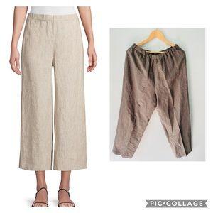 Eileen Fisher Wide Leg Linen Pants Casual Medium